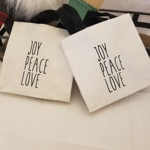 Other - Rae Dunn Inspired Canvas Tote Gift Bags TWO